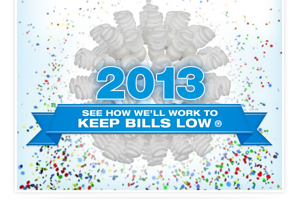 2013 - See How We'll Work To Keep Bills Low »