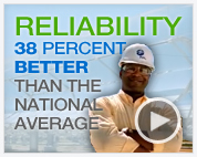 RELIABILITY 38 PERCENT BETTER THAN THE NATIONAL AVERAGE