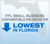 FPL SMALL BUSINESS CUSTOMER BILLS  ARE AMONG THE LOWEST IN FLORIDA