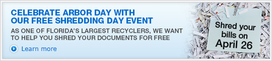 CELEBRATE ARBOR DAY WITH OUR FREE SHREDDING DAY EVENT. Learn more »