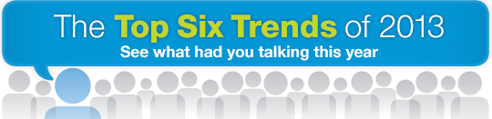 The Top Six Trends of 2013 - See what had you talking this year